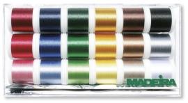 Tikkimisniitide karp 18 x 200m Rayon Madeira
