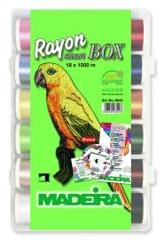 Tikkimisniitide karp 18 x 1000m Rayon Madeira
