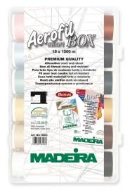 Õmblusniitide karp Aerofil Madeira 18 x 1000m